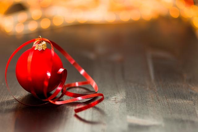 Christmas Ball, Christmas Decoration, Bauble, Blur
