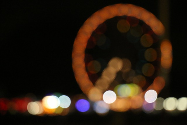 Ferris Wheel, Seaside, Fairground, Wheel, Bokeh, Blur