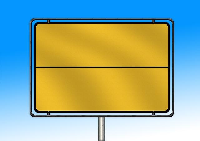 Mockup, Town Sign, Billboard, Board, Empty, Road Sign
