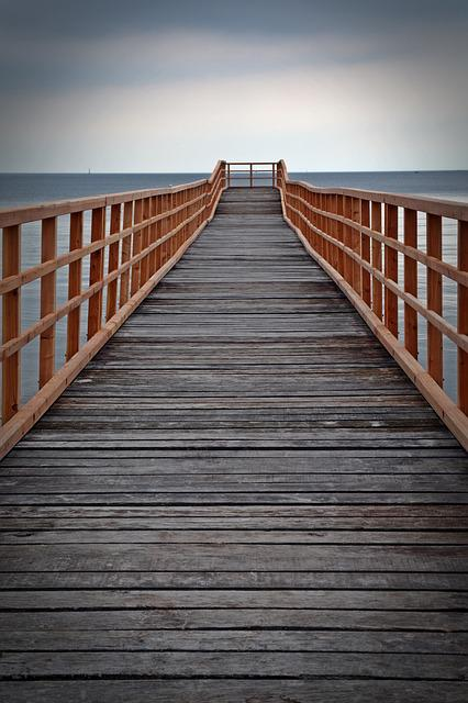 Web, Water, View, Boardwalk, Waters, Sea, Coast