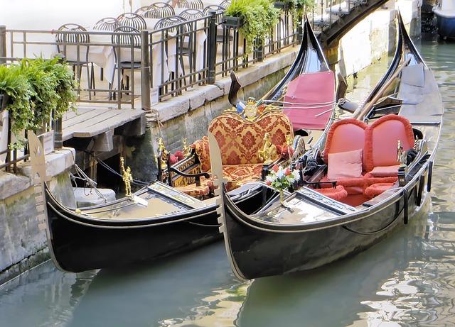 Italy, Venice, Gondolas, Invitation, Channel, Boat