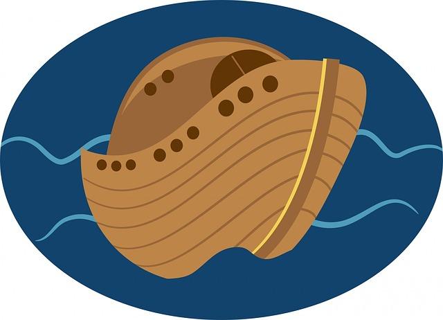 Noah's Ark, Boat, Water, Flood, Christian, Christianity
