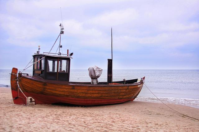 Ship, Cutter, Boat, Sea, Baltic Sea, Usedom, Beach