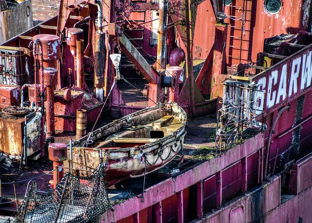 Boat, Canoe, Wreck, Old, Former, Abandoned, Red, Detail