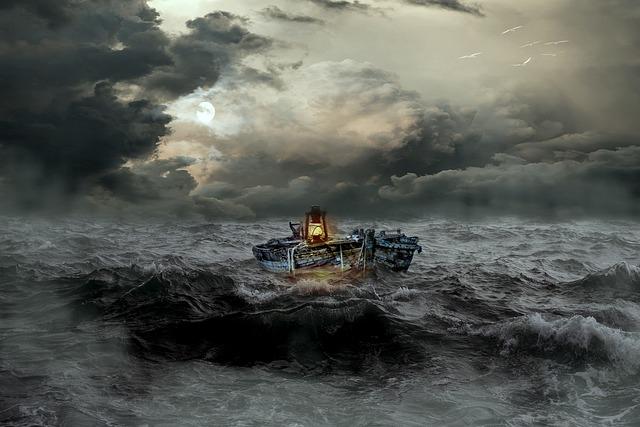 Boat, Distress, Sea, Wave, Forward, Rough Sea