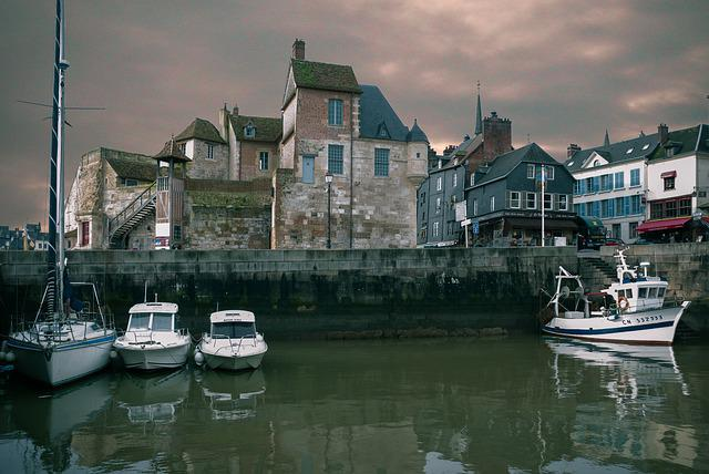 Port, Travel, River, Boat, Reflection, Honfleur, France
