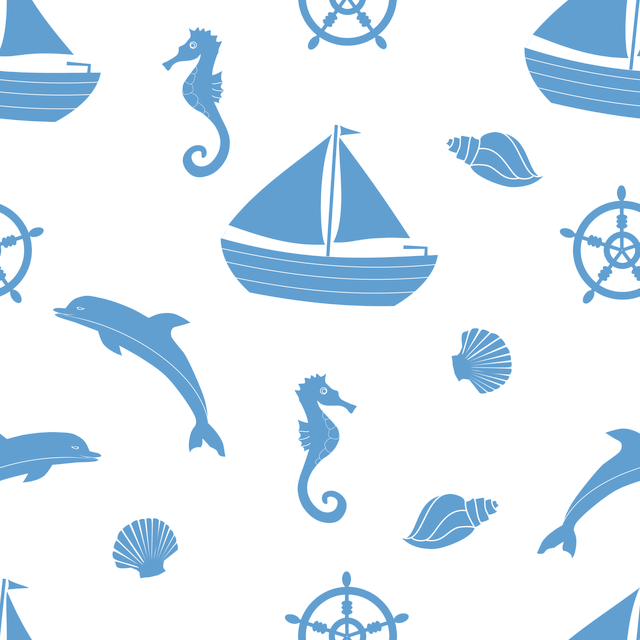Download Free Photo Boat Graphics Seamless Pattern Texture Ocean Fish Max Pixel