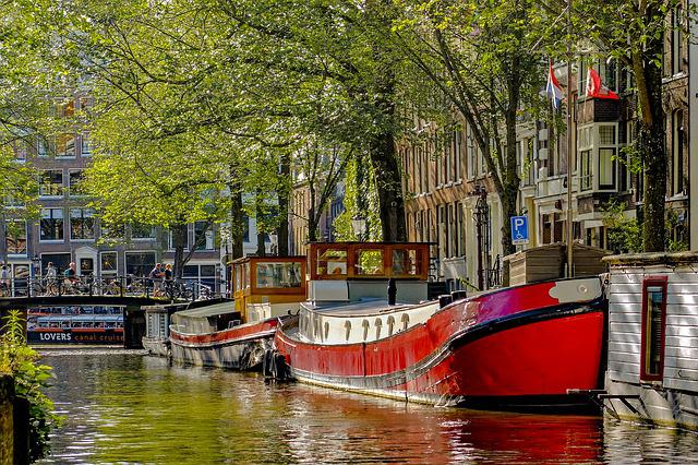Barge, Houseboat, Boat, Canal, Bridge, Waterway