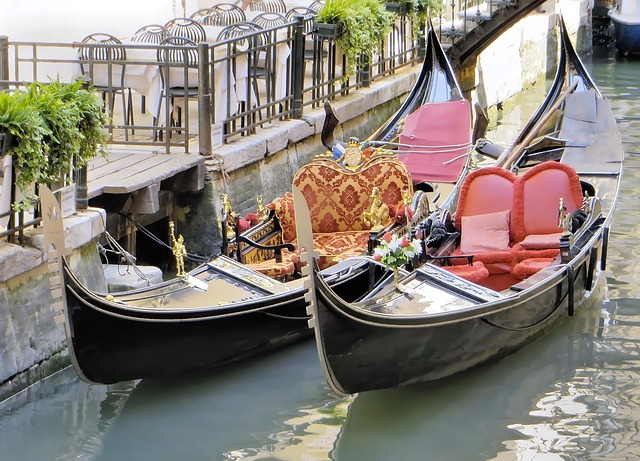 Italy, Venice, Gondolas, Invitation, Channel, Boat