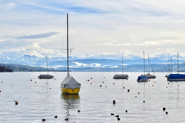 Zurich, Lake, Sailing, Boat, Landscape, Sunset