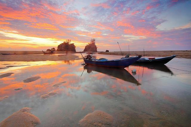 Boat, Landmarks, Sunrise