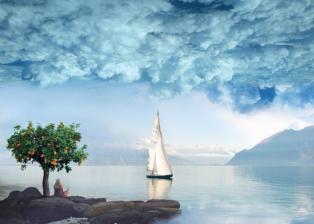 Water, Sea, Sky, Coast, Cloud, Boat Landscape, Nature