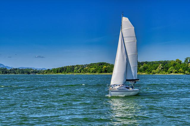 Landscape, Upper Bavaria, Chiemsee, Boat, Nature