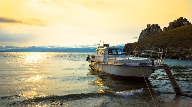 Boat, Beach, Sunset, Sea, Against Day