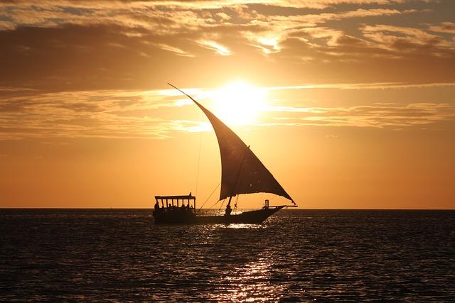 Sea, Boat, Sunset, Ocean, Water, Yacht, Sailboat
