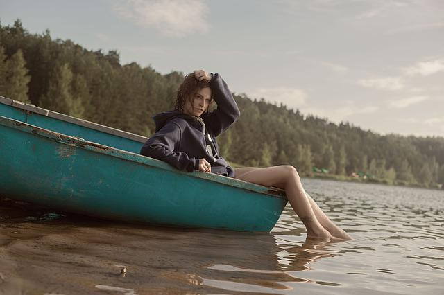 Boat, River, Girl, Water Transport, Summer, Water
