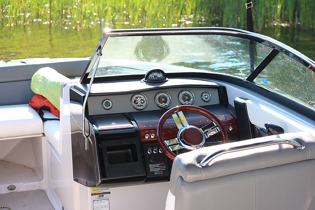 Boat, Cockpit, Wheel, Motorboat