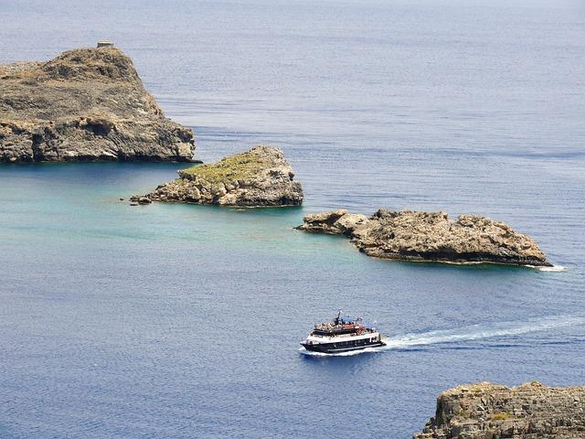 Boat, Sea, Water, Ship, Boating, Blue, Lindos