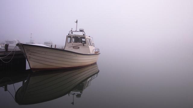 Boat, Boats, Motor Boat, Mist, Alone, Archipelago
