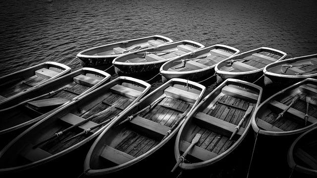Boats, Docked, Mooring, River
