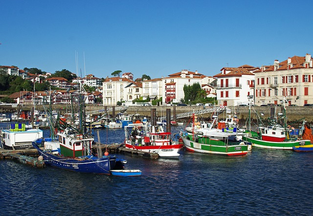 St-jean-de-luz, Port, Boats, Fishing, Wharf, Seascape