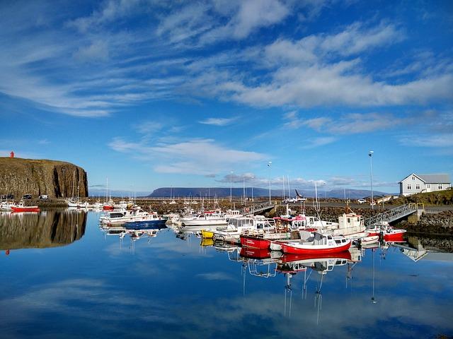 Stykkishólmur, Port, Boats, Iceland, Snæfellsnes