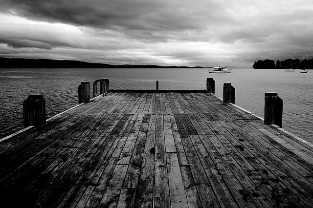 Boats, Dock, Jetty, Ocean, Overcast, Pier, Sea, Water