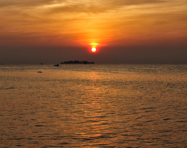 Sunset, Sea, Sunset Colors, Summer, Sky, Boats, Horizon