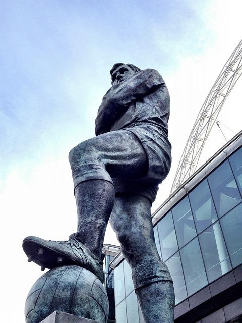 Statue, Football, Hero, Bobby Moore, Wembley