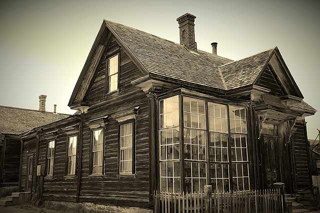 Abandones House, Ghost Town, Bodie Ca, Abandoned, House