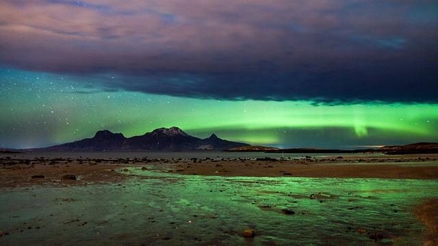 Northern Lights, Bodø, Nordland, The Arctic, Landscape
