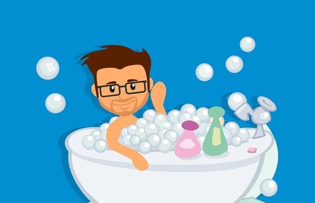 Bath, Bathroom, Bathtub, Bubble, Shower, Body, Ceramic