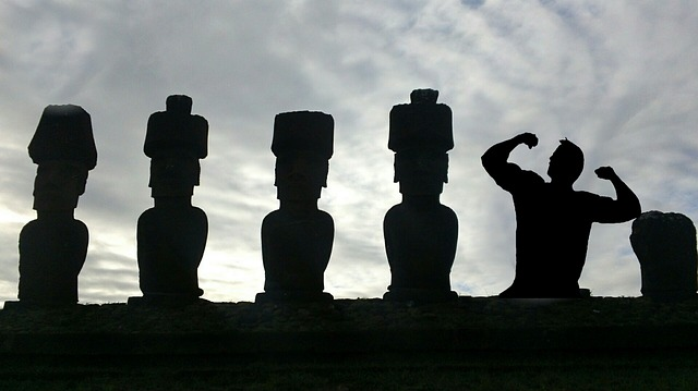Silhouette, Easter Island, Body Builder