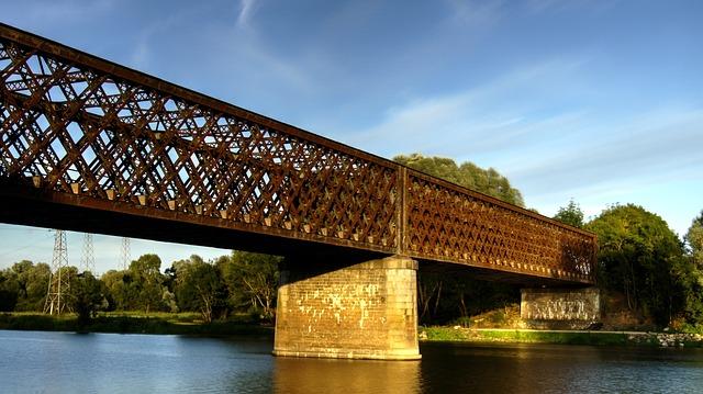 Bridge, Body Of Water, River, Architecture, Train