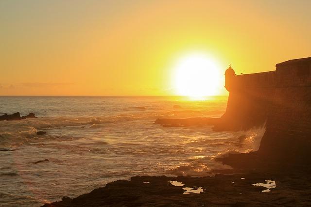 Cadiz, Andalusia, Spain, Sunset, Body Of Water, Sun