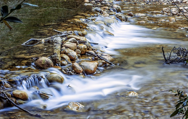 Body Of Water, Nature, River, Wet, Rock, Flow, Stone