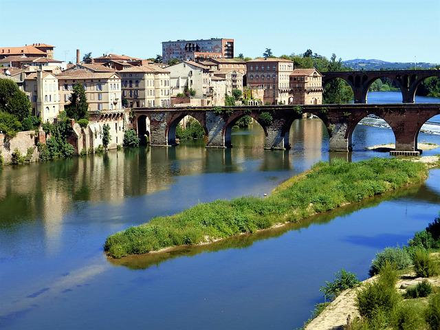 Architecture, France, Albi, City, Body Of Water, River