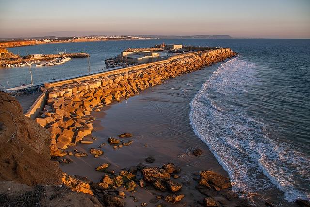 Body Of Water, Sea, Costa, Beach, Sunset, Fishing Port