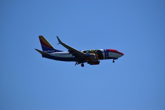 Southwest, Airliner, Airplane, Boeing 737, Boeing 500
