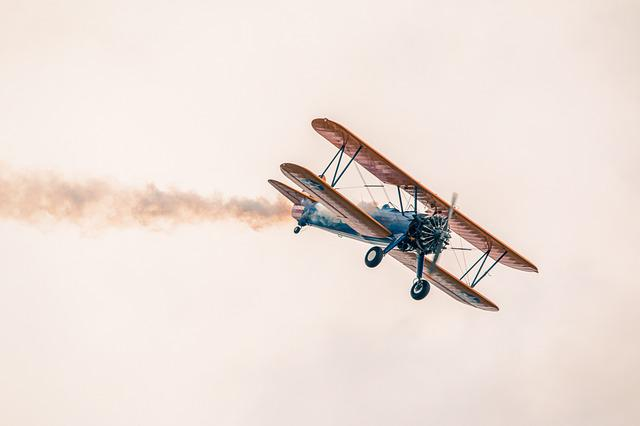 Plane, Flight, Sky, Boeing Stearman Pt-13d