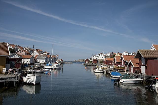Gullholmen, Bohuslän, Sweden, Sea, Water, Himmel