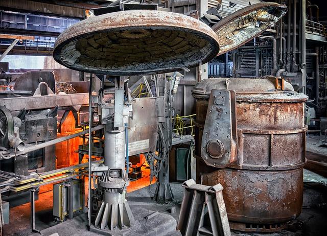 Steel, Foundry, Factory, Melt, Boiler, Embers, Glowing