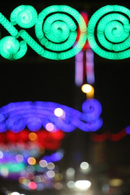 Amusement Park, Bokeh, Blackpool, Lights, Illumination