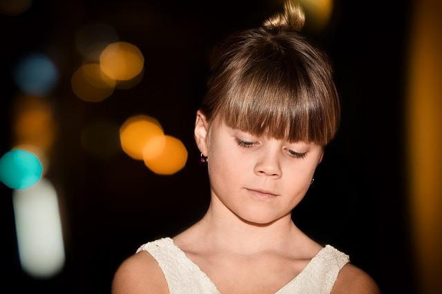 Child, Girl, Face, View, Portrait, Bokeh, Dark