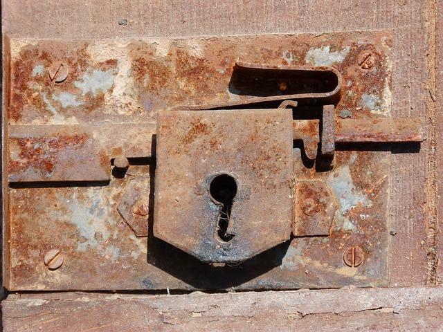 Lock, Bolt, Door, Mechanism, Old, Wall