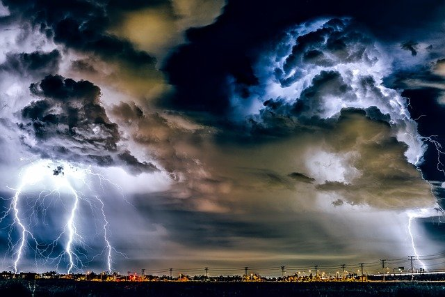 Thunderstorm, Weather, Storm, Rain, Lightning, Bolts