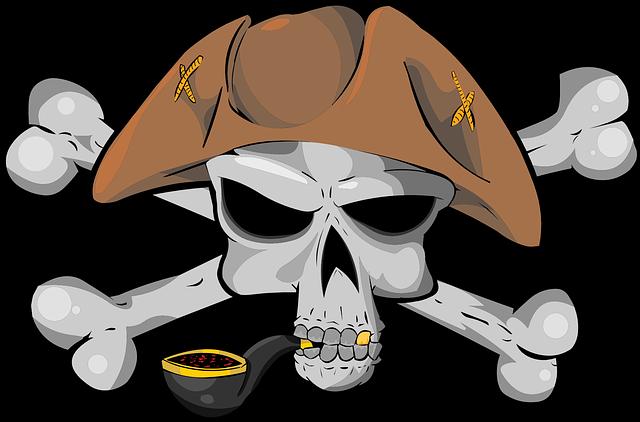 Pirate, Skull, Bone, Hat, Tobacco, Tube, Jolly Roger
