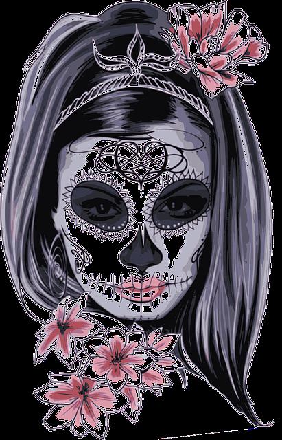 Mask, Carnival, Horror, Costume, Woman, Girl, Bones
