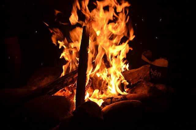 Fire, Burn, Burning, Bonfire, Campfire, Heat, Embers