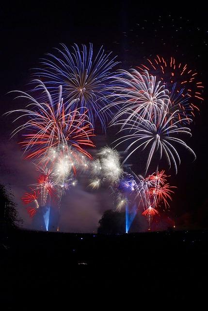 Fireworks, Bonfire, Night, Burst